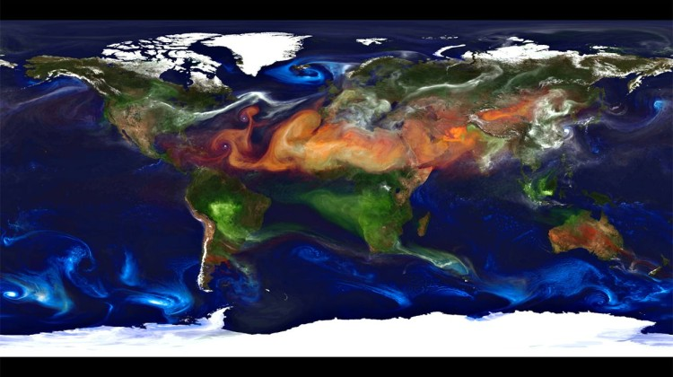 NASA Portrait of Global Aerosols