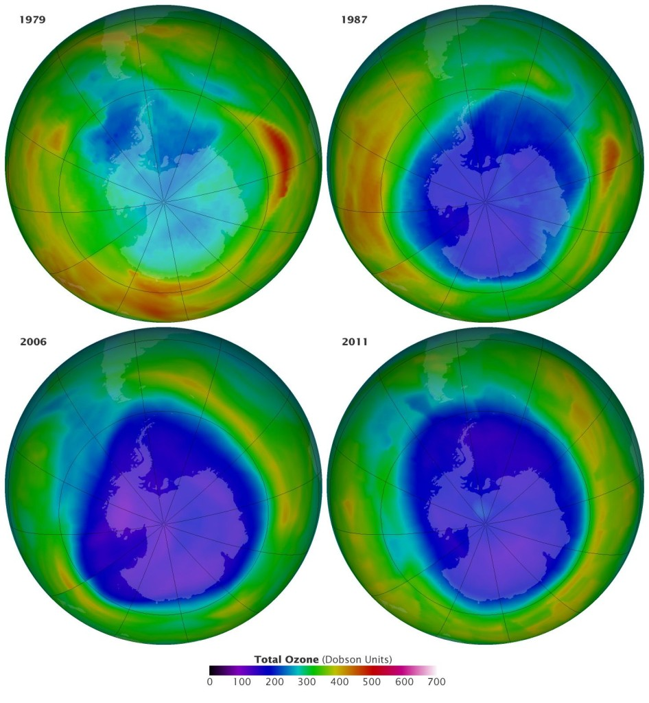 Ozone depletion. Photo: NASA