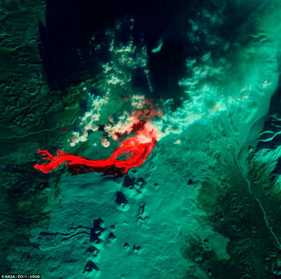 Tolbachik volcano. Photo: NASA