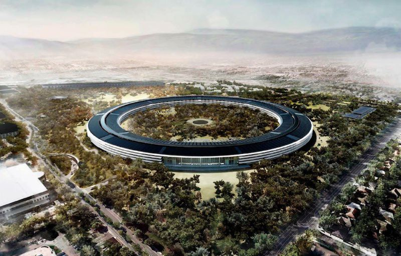 Apple Campus 2 rendering. Image: Apple.