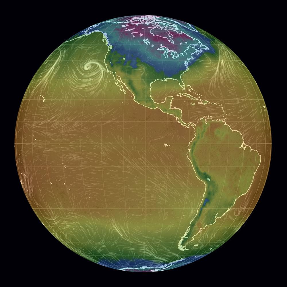 world temperature map