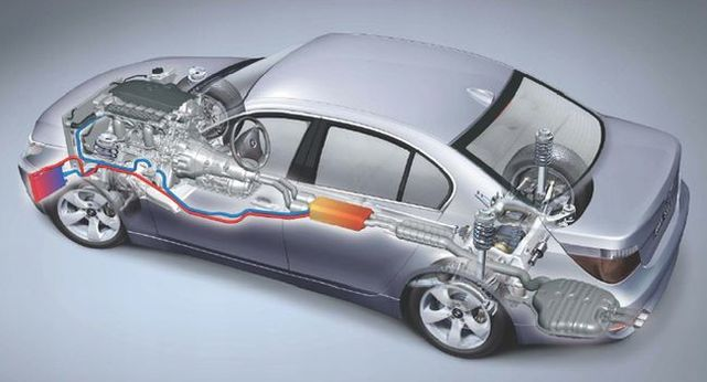 BMW thermoelectric waste heat recovery. Photo: BMW
