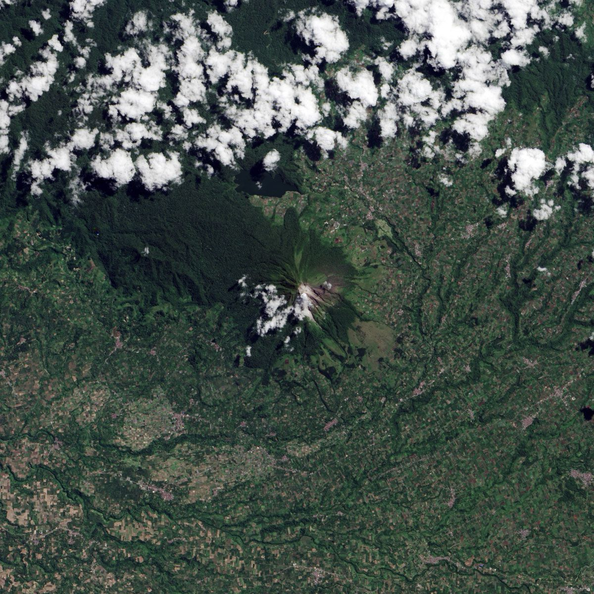 Mount Sinabung, June 2013. Image: NASA.