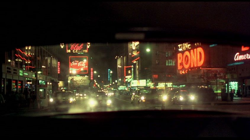 Times Square in darker days: still from Taxi Driver, 1976