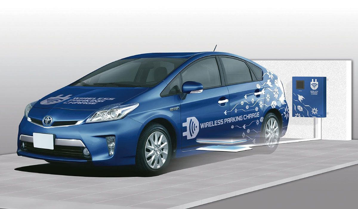 Toyota wireless charging & parking system