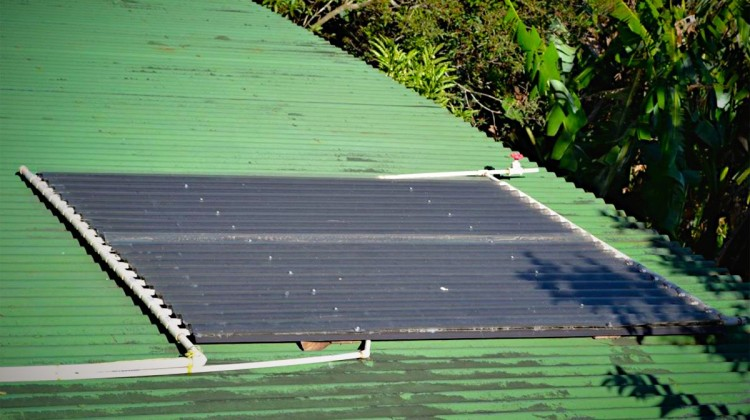 DIY easy solar hot water heater