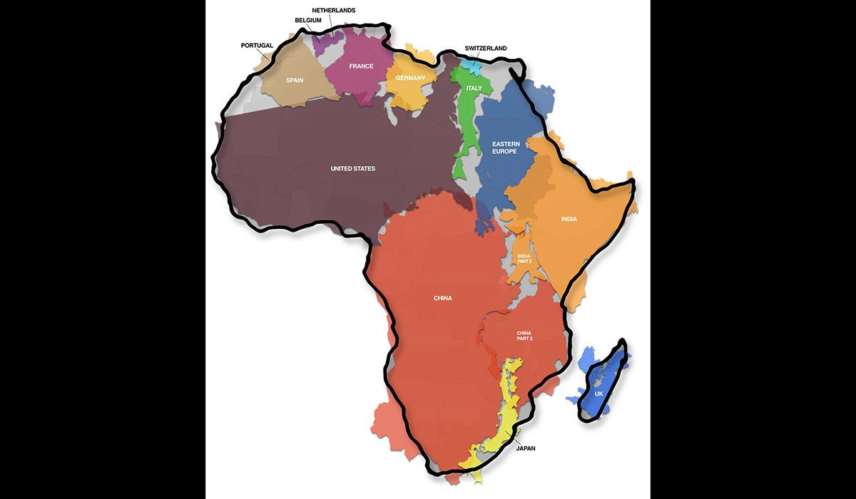 africa bigger than you think greenland much smaller