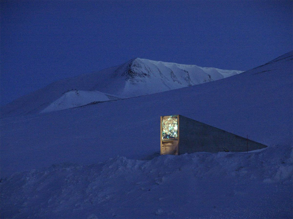 Entrance to Svalbard Seed Bank