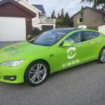 Tesla taxi in Norway