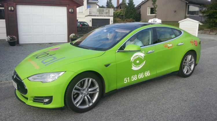 Tesla taxi in Norway