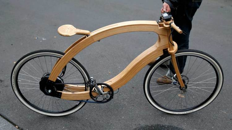 An E-bike Made Of Wood